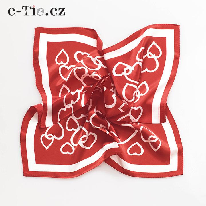Šátek Red Hearts