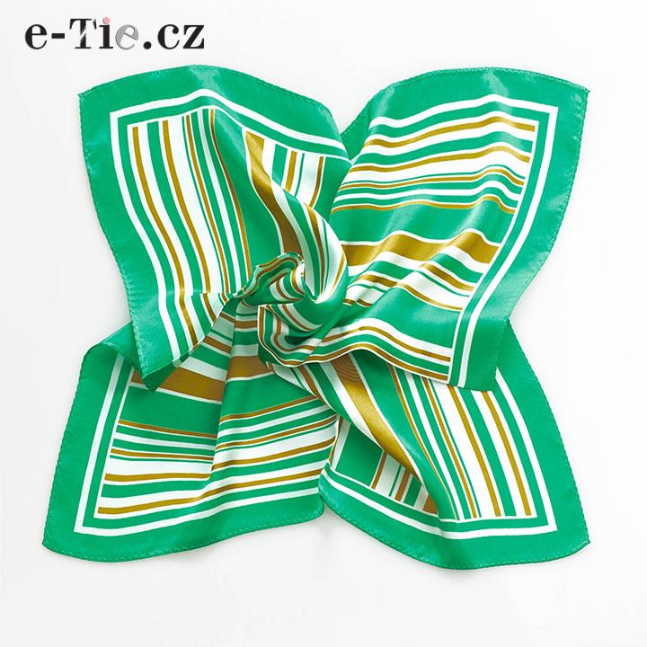 Šátek Stripes in Squares