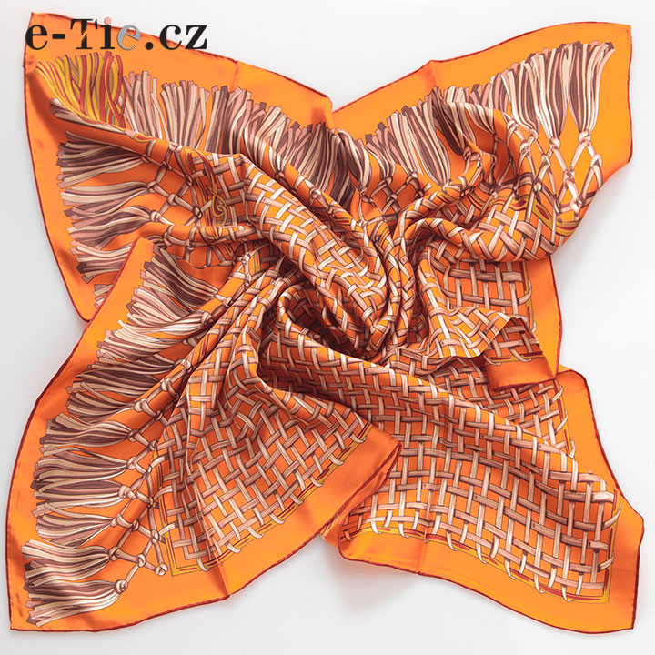 Šátek Net on Orange
