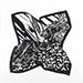 Šátek Leopard Gray